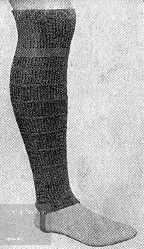 Khaki puttee footless stockings, WW1