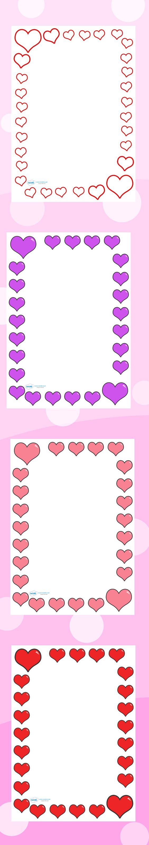 explore borders a4 borders letters and more love heart free printables ...