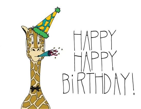 An apt giraffe themed #birthday card for the tallest fella in your gang. #HappyBirthday #fun #ecard #wishes #greetings.