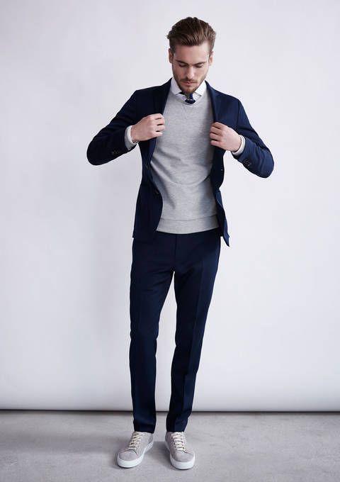 Smart Casual Man Suit Menswear Preppy