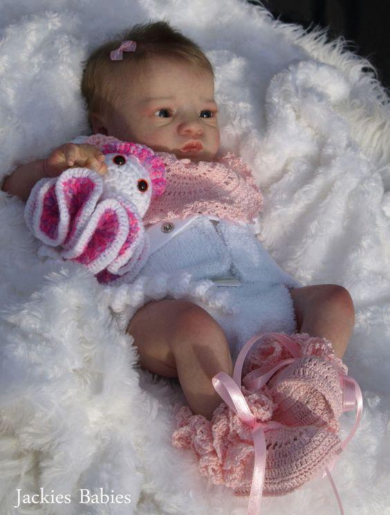 Jackies Babies Reborn Baby Girl Twin 1 Presley Awake