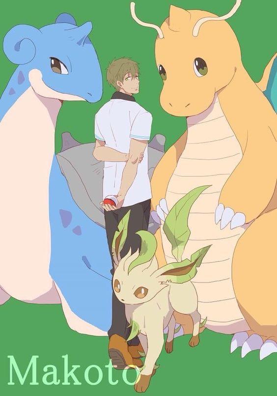 Free! Makoto+Pokemon