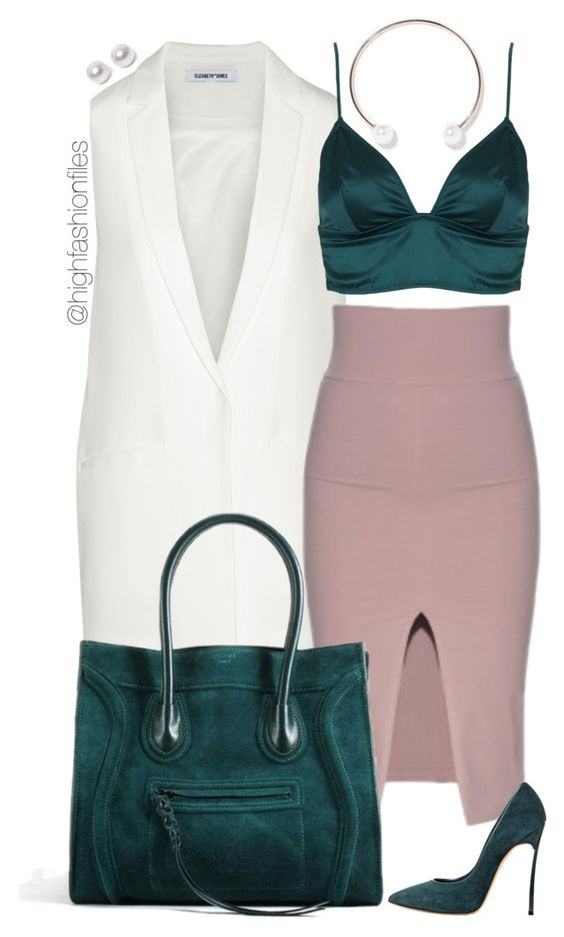 """""""Goodie"""" by highfashionfiles ❤ liked on Polyvore featuring Elizabeth and James, Topshop, Casadei, Zara and Nouv-Elle"""