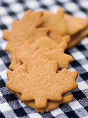 Yummy, crispy, maple leaf, ginger cookies...makes your whole house smell like the holidays!
