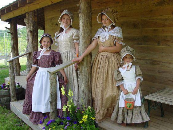 WeHaveCostumes Handmade Historical Costumes Pioneer Girl American ...