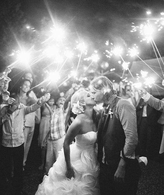 Sylvia and Anton...You can just feel the positive energy!  Her dress makes me want to get married again!  Stunning sparklers and dress!    Veronica Lola Photography