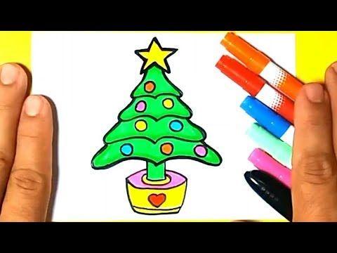 Como Desenhar Arvore De Natal Facil E Bonita Desenho Simples