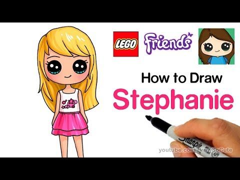 How To Draw Lego Friends Stephanie Youtube With Images Lego