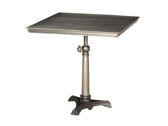 Home Office Adjustable Bistro Table Antique Nickel IELE 27