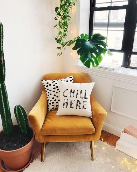 Chill Here in 2020 | Living room orange, Burnt orange living ...
