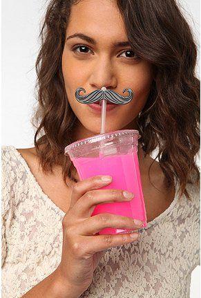 mustache straws :)