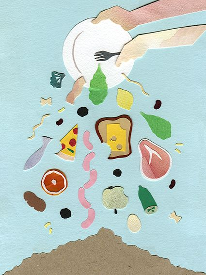 This is a simple food waste poster I like the way it looks as its simple but effective: