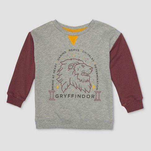 Toddler Boys Harry Potter Line Art Gryffindor Sweatshirt Heather Gray Target Harry Potter Lines Gryffindor Harry Potter
