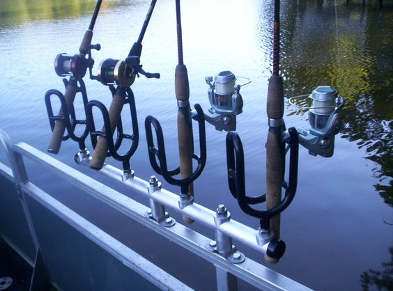Boats rod holders and stainless steel on pinterest for Fishing pole holders for boats
