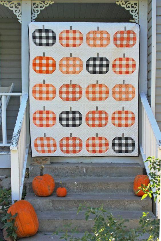 Plaid Pumpkins PDF Quilt Pattern / Modern Quilt Pattern / Fall | Etsy