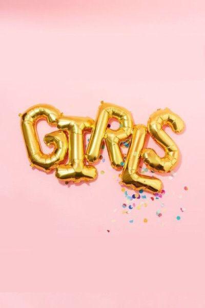 Imagen de girl, pink, and balloons