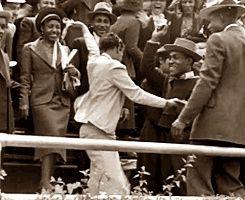 Scene from 1938 Carnival of Swing on Randall's Island, NY.
