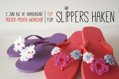Inspiration: crochet flip flops. ♪ ♪ ... #inspiration_crochet #diy GB