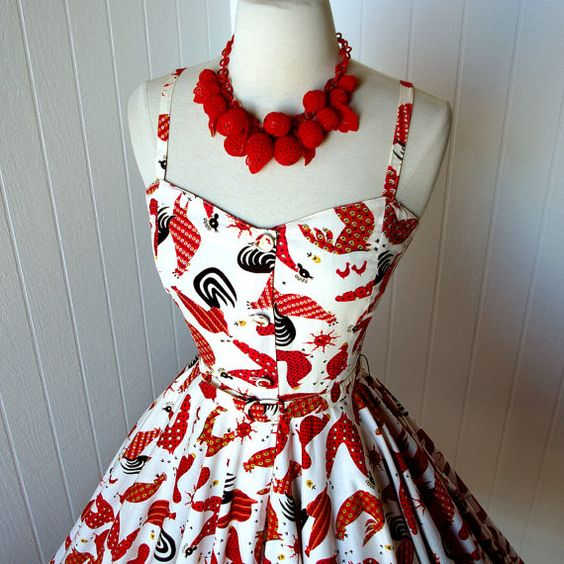 Oh snap. There are all varietals of twickens on this dress....