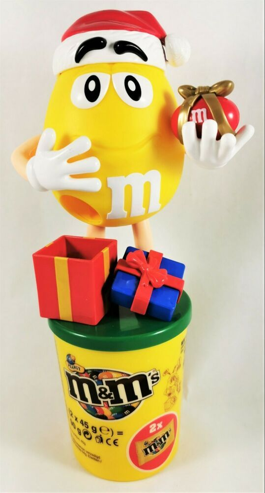 2020 M&M Christmas Dispenser M&M Candy MM Dispenser Christmas Gift Limited Germany Yellow Box