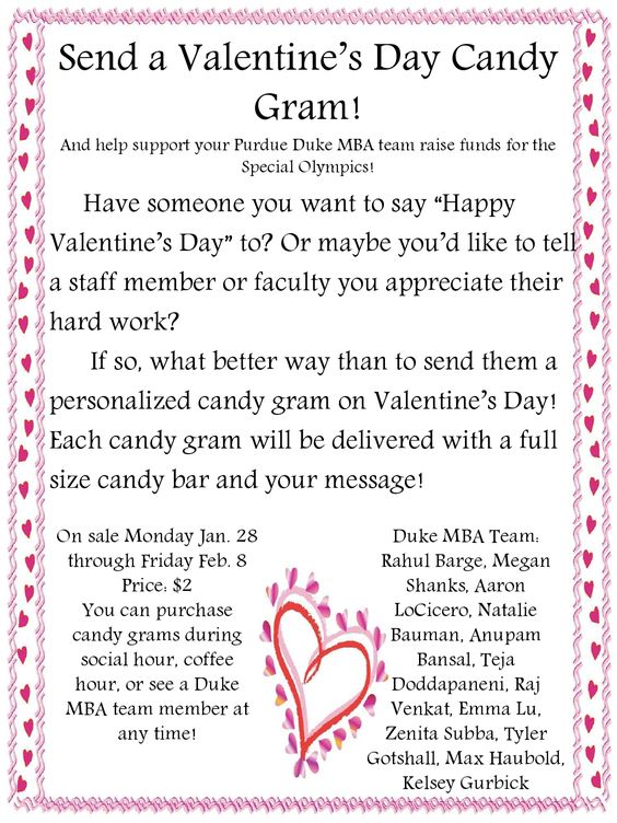 Candy Gram Order Form Google Search Fundraiser Ideas