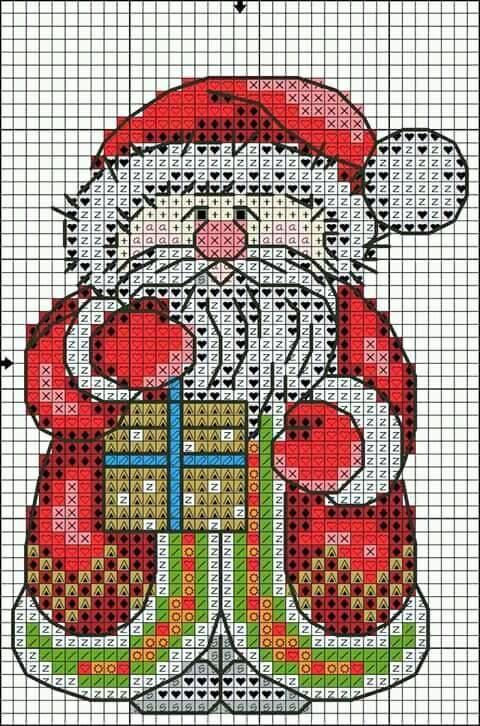 Holidays Christmas Cross Stitch Pattern Xmas Collection Santa