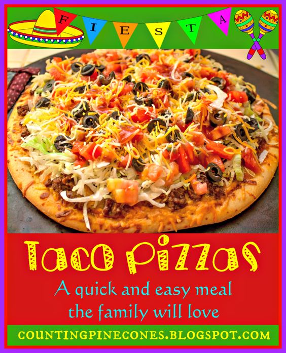 Homemade Taco Pizza based on the Taco Pizza from Cici's Pizza. A quick ...