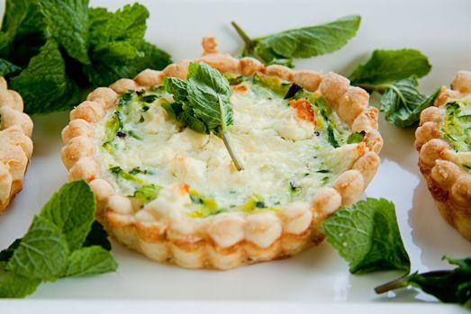 Zucchini, Feta & Mint Quiche: