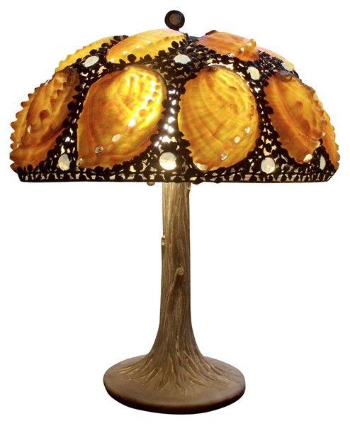 Seashell Arts & Crafts Table Lamp - SOLD: Au Fil de l'Eau Antiques