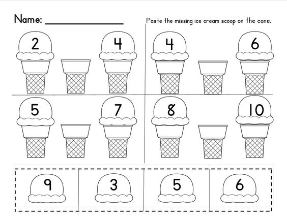 Missing Numbers in a Sequence (1-10 and 10-20); Common Core ...