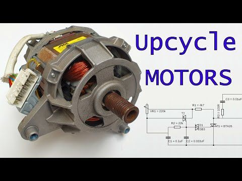 How To Use A Washing Machine Motor Hi There In This Tutorial I Will Show You How To Connect Use And Washing Machine Motor Old Washing Machine Washing Machine