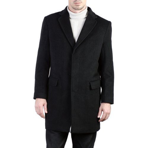 BGSD Men's Cashmere Blend Trend Fit Coat