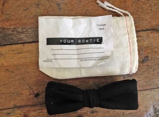 bow tie (and packaging!)
