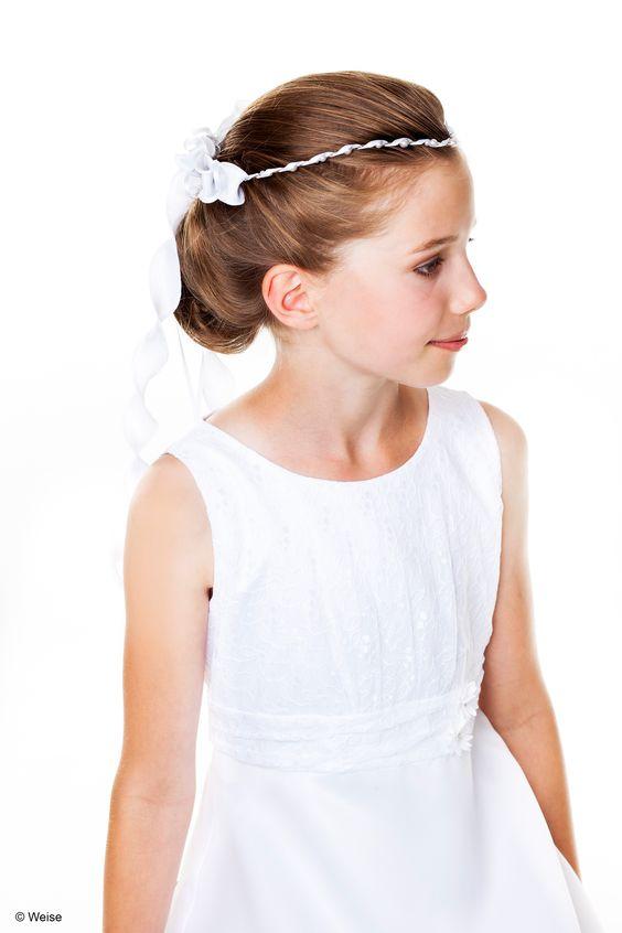 Stirnspitze Kommunion - weiß      Stirnspitze für Mädchen von Weise     Farbe: weiß