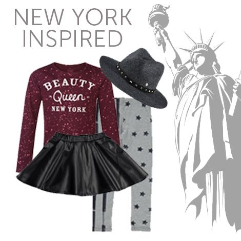 New York inspired outfit | kleertjes.com #NewYork #Outfit #Girls #Kidsfashion #kleertjes #Beautyqueen