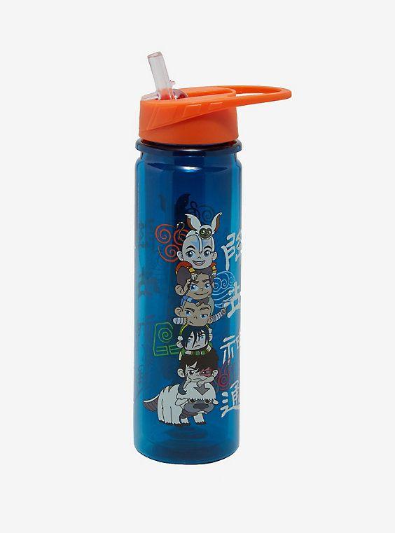 Avatar The Last Airbender Water Bottle Boxlunch Exclusive Water Bottle Glitter Water Bottles Bottle