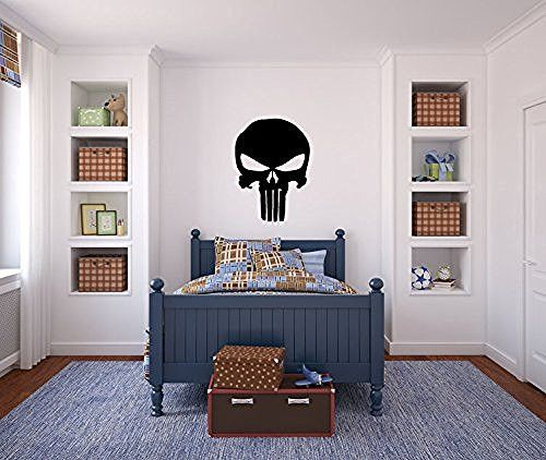 Punisher Skull Vinyl Wall Glass Laptop Decal Sticker Graphic - Custom vinyl sign graphics   removal options