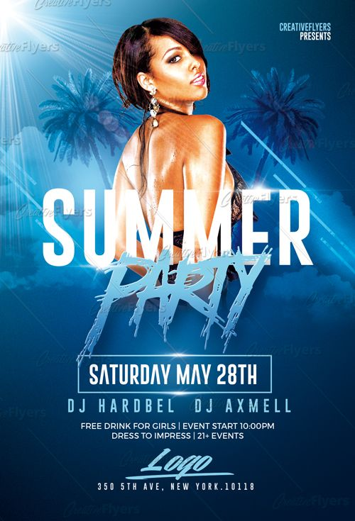 Download Summer Party Flyer Psd Templates Party Flyer Free
