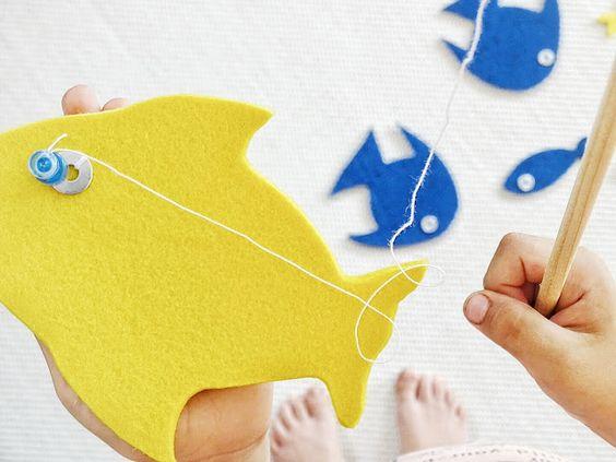 Auf der Mammilade|n-Seite des Lebens: DIY | Magnetisches Angelspiel aus Filz - Die Aktion 'Kreativ für Kinder' zum Mitmachen