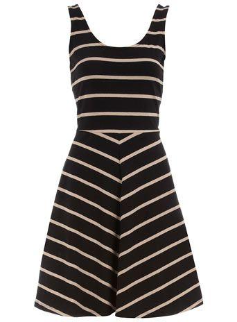 Dorothy Perkins  Black/stone sleeveless dress