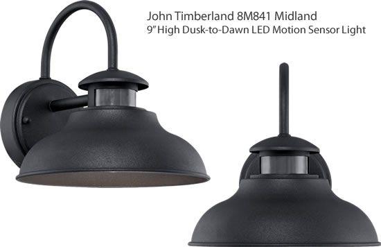 John Timberland 8m841 Midland 9 High Dusk To Dawn Led Motion Sensor Light Built Farmhouse Outdoor Lighting Motion Sensor Lights Outdoor Motion Sensor Lights