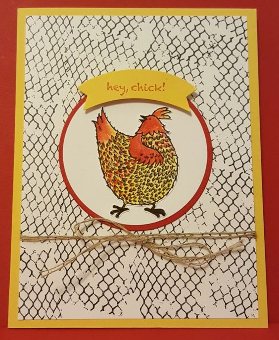 Hey, Chick In a Fence by zipperc98 - Cards and Paper Crafts at Splitcoaststampers