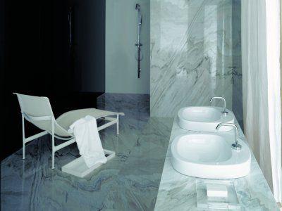 Badkamer in marmer  Interieur - Badkamer  Pinterest