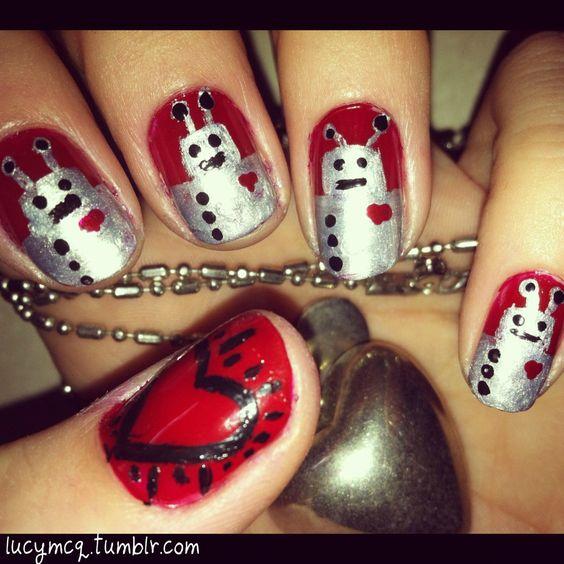 robot nail art