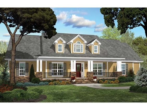 ePlans Country House Plan Refined Elegance 2250 Square Feet