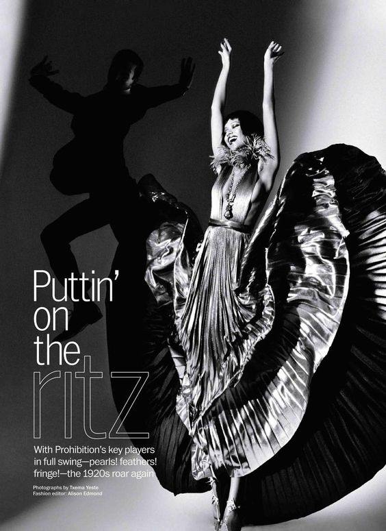Models: Selina Khan (OneModel) & Unknown  Editorial: Puttin' On The Ritz  Magazine: Marie Claire, April 2012  Photographer: Txema Yeste  Stylist: Alison Edmond  Hair: Peter Savic  Makeup: Victor Alvarez  Manicure: Ashlie Johnson
