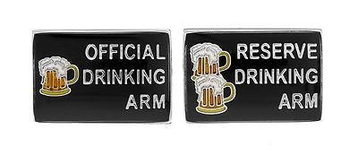 #Men's novelty drinking arm & reserve drinking arm #cufflinks #brand new,  View more on the LINK: http://www.zeppy.io/product/gb/2/231710606816/