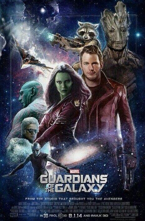 Les Gardiens de la Galaxie (2014)  Chris Pratt, Zoe Saldana, Dave Bautista, ...