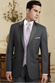 Dark grey tuxedo for the boys! :)