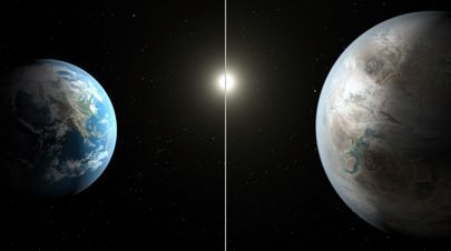 An artist's impression of Kepler 452b, one of the most Earth-like planets we've…